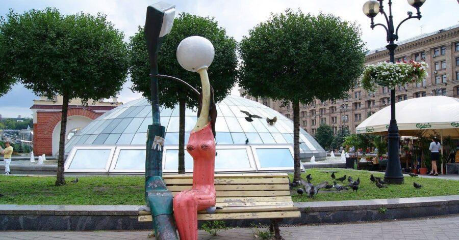 Скульптура Влюбленных фонарей