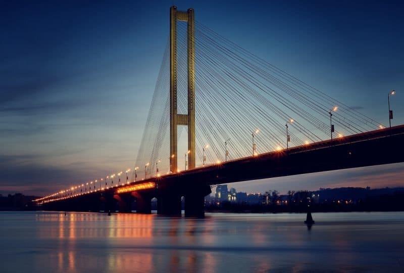 Все мосты Киева: автомобильные и пешеходные